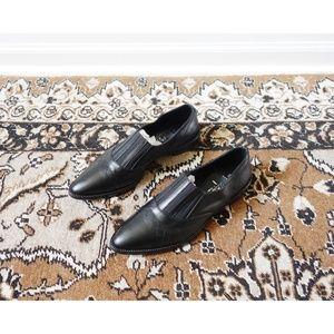 Aquatalia Black Leather Gayle Oxford 9.5 - NWOB